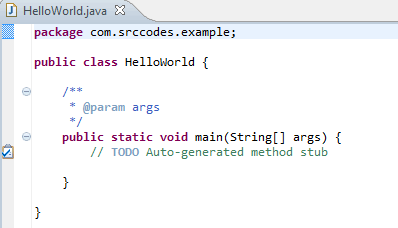 Generated Class In Java Editor