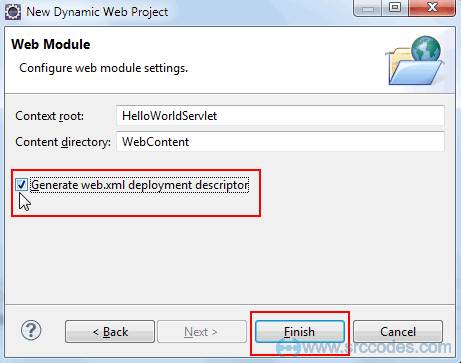 Configure web module setting