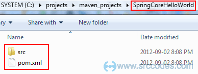 Maven Java Project structure