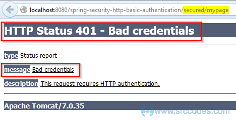 Spring Security HTTP Basic Authentication Example - SrcCodes