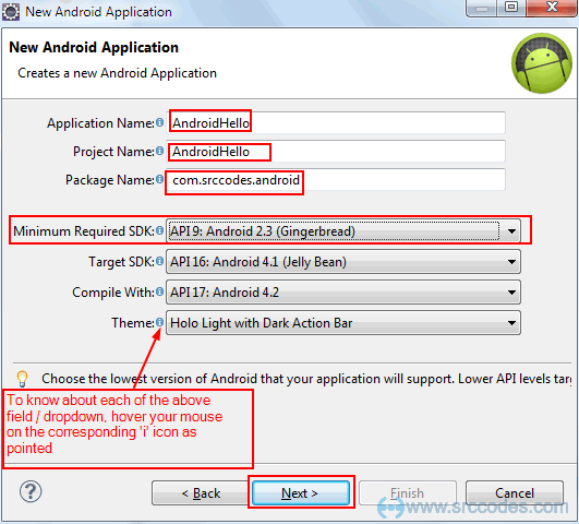 Configure Android Project Settings
