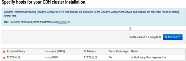 Specify hosts for your CDH cluster installation