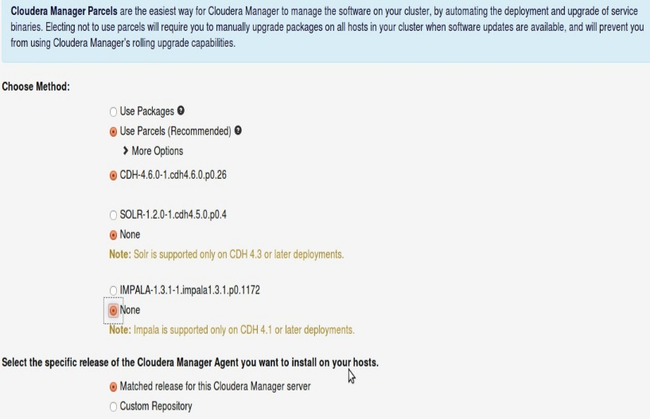 Cloudera Manager Parcels