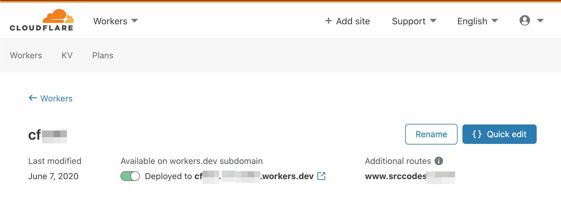 serverless Cloudflare Workers